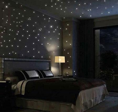 نورپردازی اتاق خواب با دکوراسیون مدرن + تصاویر