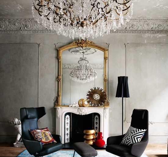 اتاق پذیرایی شیک با لوسترو ایجاد فضایی مدرن و زیبا  تصاویر
