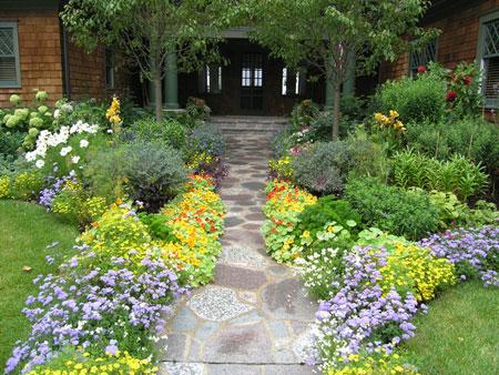 دکوراسیون سنگ فرش باغ و حیاط