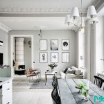 دکوراسیونی با رنگ های سفید و خاکستری +تصاویر