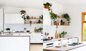 دکوراسیون آشپزخانه مدرن با رنگ سفید
