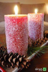 تزیین شمع سفره هفت
