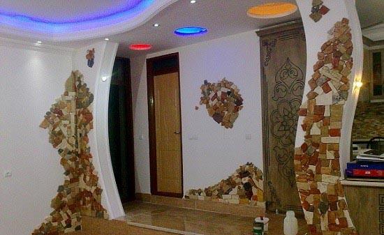 دکوراسیون داخلی با سنگ آنتیک