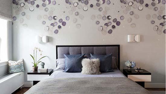 طراحی و تزیین دیوار اتاق خواب