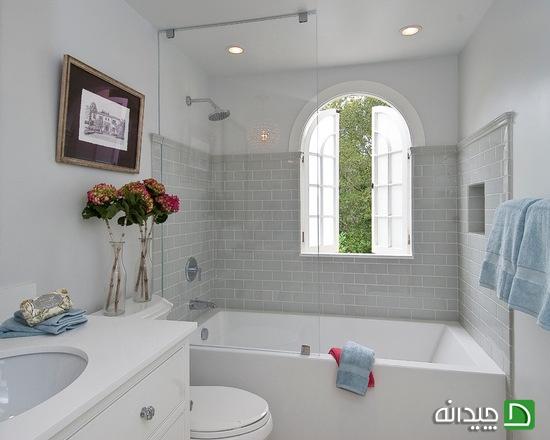 دکوراسیون وان و جکوزی در حمام های کوچک