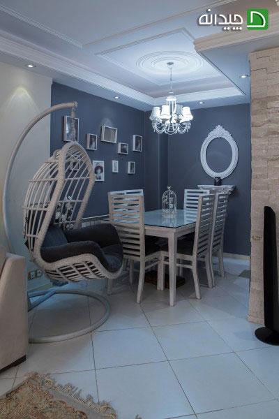 انتخاب رنگ سفید و طوسی در دکوراسیون منزل +تصاویر