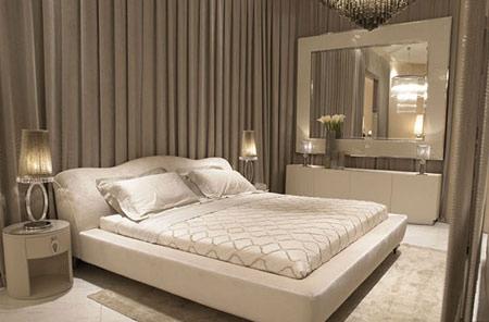 قرار دادن تخت خواب در اتاق خواب