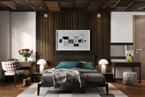طراحی دیوار بالای تخت +تصاویر