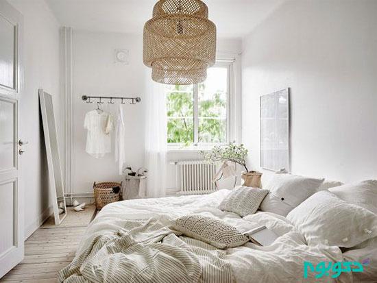 لامپ های روشنایی در اتاق خواب