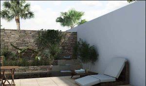 نمای دیوار حیاط
