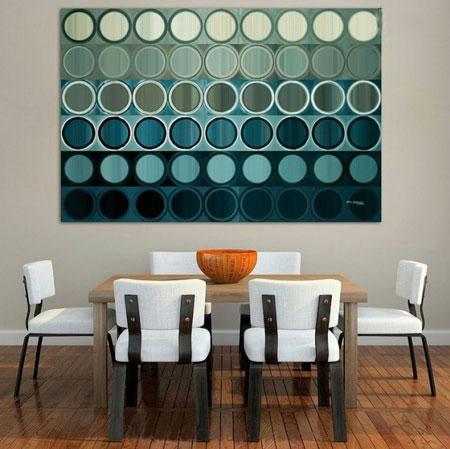 دکور خانه با تابلوهای مدرن +تصاویر