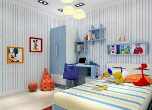 اتاق کودکان با طراحی دخترانه و پسرانه