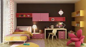 طراحی شیک و کاربردی اتاق خواب دخترانه