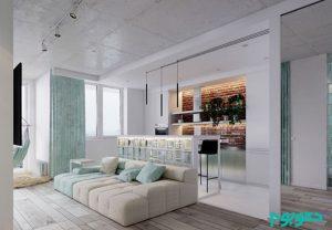 آپارتمانی به رنگ فیروزهای