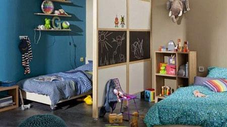 چیدمان اتاق خواب مشترک کودکان