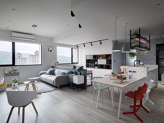 آپارتمانی به سبک اسکاندیناوی