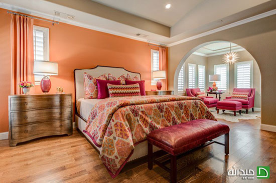 ست کردن رنگ اتاق خواب عروس