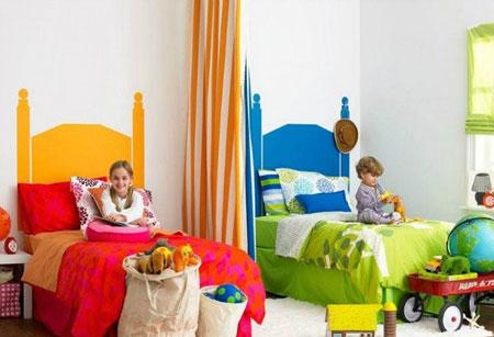 چیدمان اتاق خواب مشترک کودکان +تصاویر