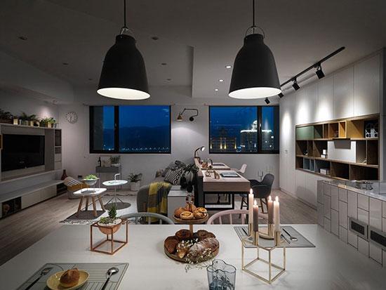 آپارتمانی به سبک اسکاندیناوی +تصاویر