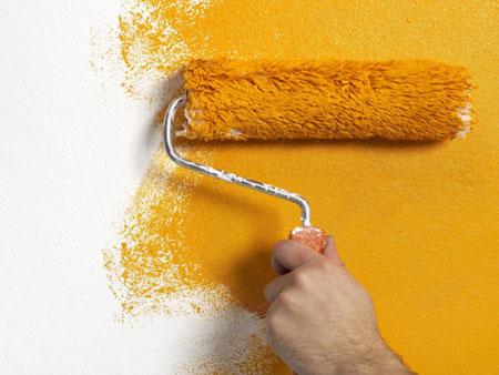 نحوه پوشاندن عیب دیوار با رنگ +عکس