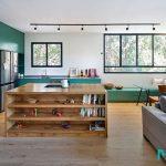 رنگ سبز در آپارتمانی کوچک با ایدههای هوشمندانه