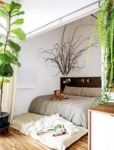اتاق خواب خود را با این ایده های طبیعی بچینید!