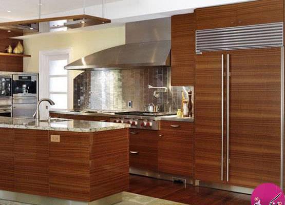 استتار یخچال در دکوراسیون آشپزخانه