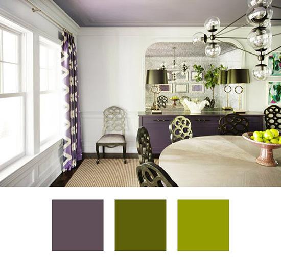 ایده هایی برای ترکیب رنگ ها با بنفش