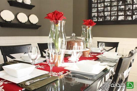ایده هایی برای تزیین میز غذا