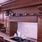 دکوراسیون لوکس آشپزخانه با طرح چوب