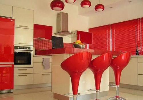 رنگ قرمز برای آشپزخانه