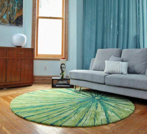 چیدمان اتاق با رنگ فرش