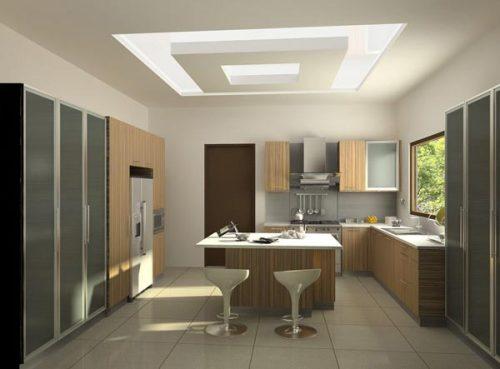 مدل کناف اپن آشپزخانه