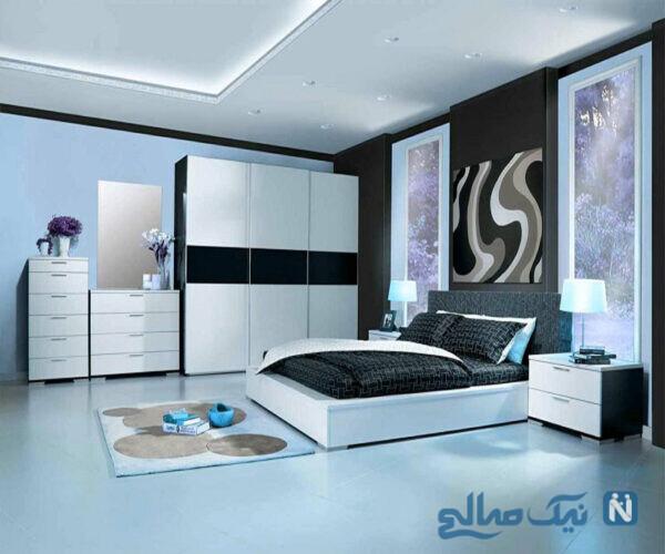اتاق خواب سیاه و سفید