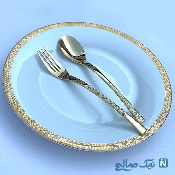 قاشق چنگال جدید طلایی