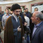عکس های پسران رهبر انقلاب در مراسم ختم پدر وحید حقانیان