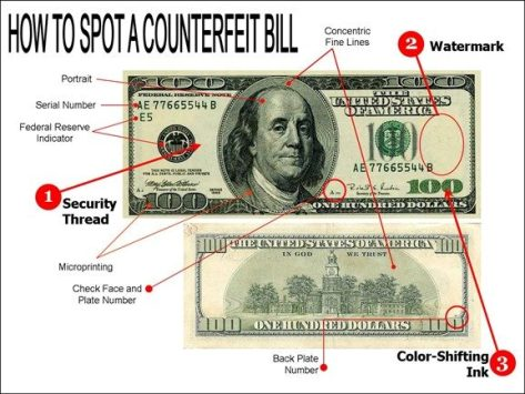 تشخیص دلار تقلبی از اصل