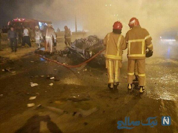 تصادف در اتوبان تهران قم