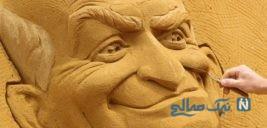 هنرنمایی با شن و ماسه در جشنواره مجسمه های شنی
