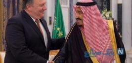 ژل دست روی میز ملاقات پادشاه عربستان و پمپئو سوژه رسانه ها شد!