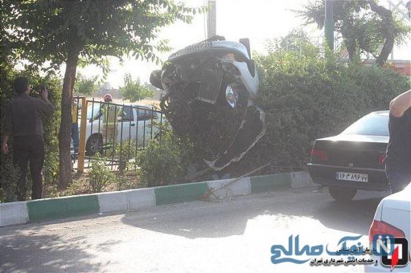 واژگونی خودروی 206