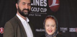 عکس بهاره رهنما و همسرش دست در دست هم در یک مراسم