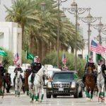 اسکورت عجیب خودروی ترامپ در عربستان سوژه عکاسان شد