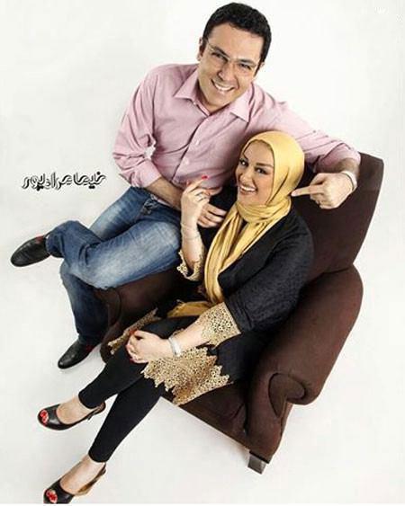 کوروش تهامی در کنار همسرش+تصاویر