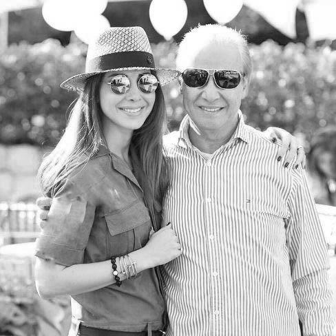نانسی عجرم  و ابراز علاقه و محبت به پدرش!+عکس