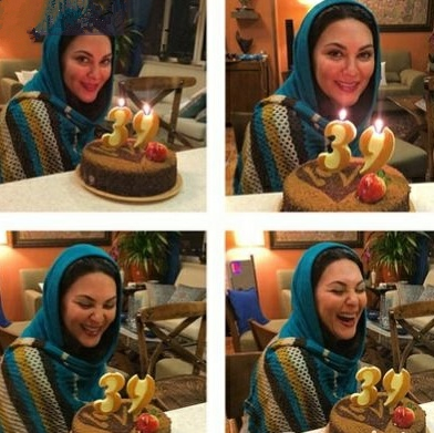 کیک تولد ۳۹ سالگی لاله اسکندری + عکس