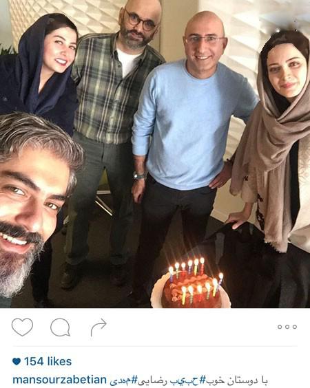 سلفی مهدی پاکدل و همسرش در کنار مجری مشهور+تصاویر