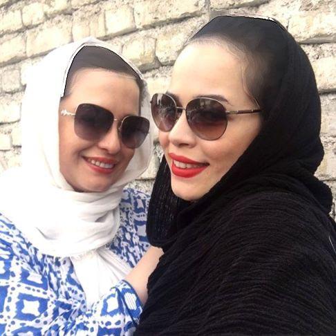 ملیکا و مهراوه شریفی نیا در یک کارواش!+عکس
