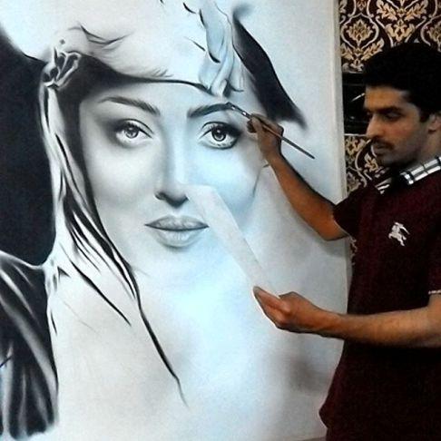 نقاشی بسیار زیبا از چهره زیبای نیکی کریمی! +عکس
