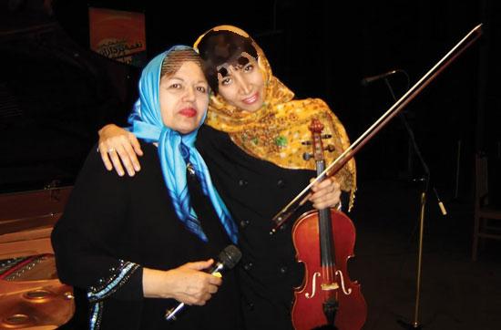 سیمین غانم برای زنان ایران می خواند…!+تصاویر